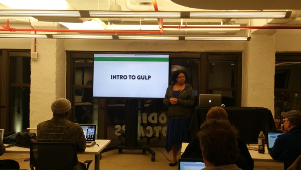 Aisha Blake, presenting Intro to Gulp