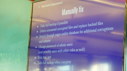 Manually fix - take full backup